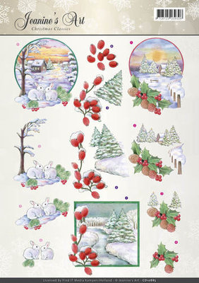 3D Knipvel - Jeanines Art - Christmas Classics - Landscapes