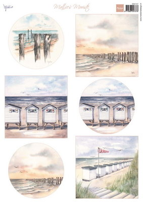 Marianne design, A4 knipvel Mattie's Mooiste beach mb0167