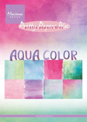 Marianne design - Pretty Papers bloc - Aqua color,