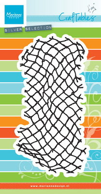 Marianne desgn - Craftables stencil - Tiny's fishnet