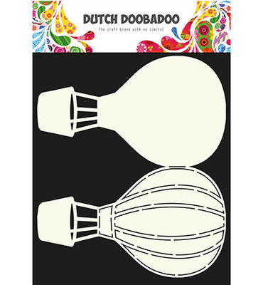 Dutch Doobadoo - Card Art - Airballoon
