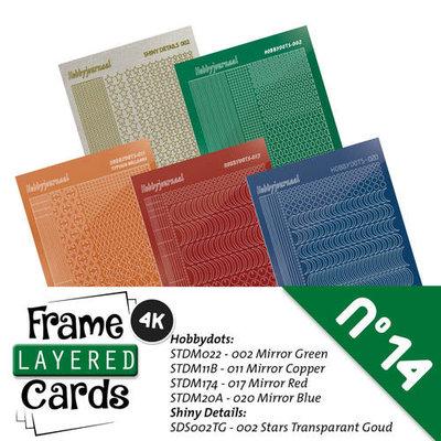 Hobbydots sticker - set 5 vellen voorA6 Layered frame cards 14