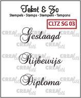 Crealies Tekst & Zo Stempels SG03