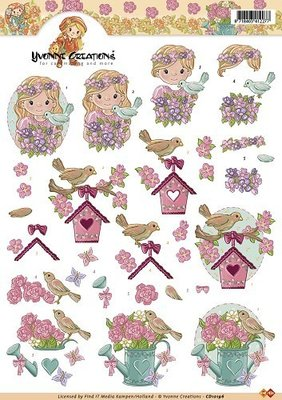 vogels met bloemen cd10196