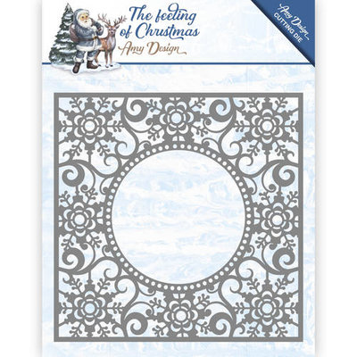 Die - Amy Design - The Feeling of Christmas - Ice crystal frame