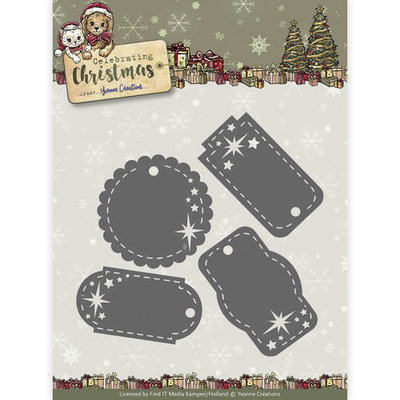 Die - Yvonne Creations - Celebrating Christmas- Star Tags
