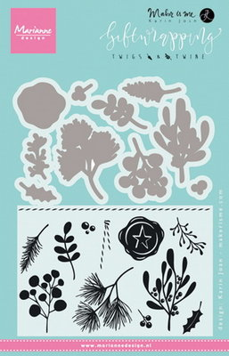 Marianne desgn - Clear Stamp giftwrapping - twigs & twine