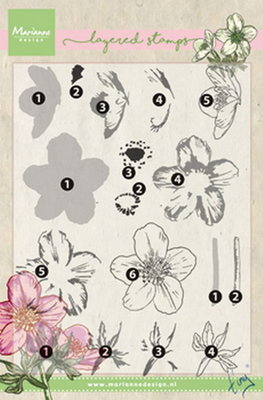 Marianne design, Clear Stamp Tiny's helleborus  (layering)
