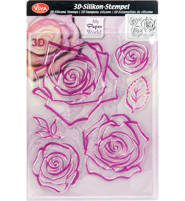 Clearstamp - 3D Rose