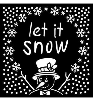 Creative Expressions - Mask - Let it Snow