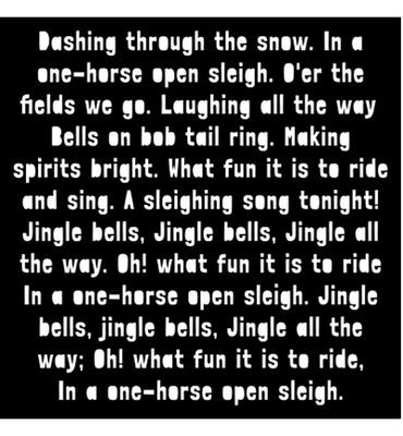 Creative Expressions - Mask - Dashing Through The Snow