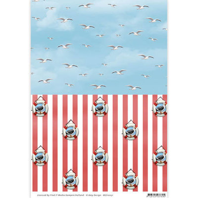 Backgroundsheets - Amy Design - Maritime 10031