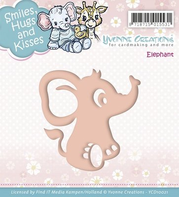 Die - Yvonne Creations - Smiles, Hugs and Kisses - Elephant