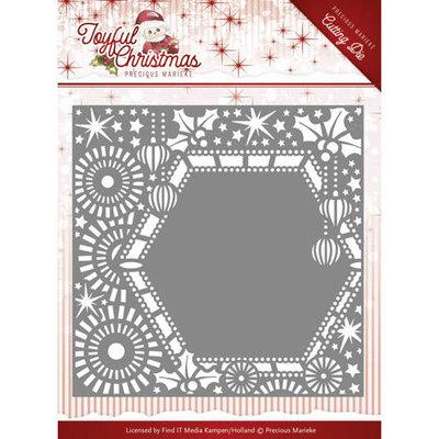 Die-Precious Marieke - Joyful Christmas - Ribbon frame