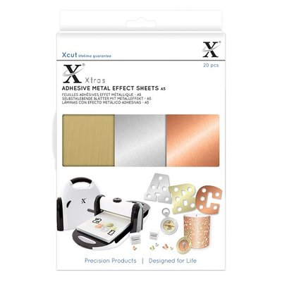 Docrafts - PXcut Xtras' A5 Adhesive Metal Effect Sheets (20pc)