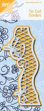 Joy! stencil no end border met ruitjes 6002/0585