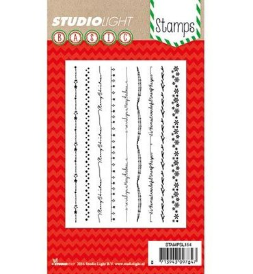 Studio Light Clear Stempel, A6, STAMPSL154 - Basic Christmas Stamp Nr. 154