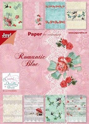 Joy Crafts - Romantic Bloc - Paper Bloc A5 32 Sheets 6011/0056