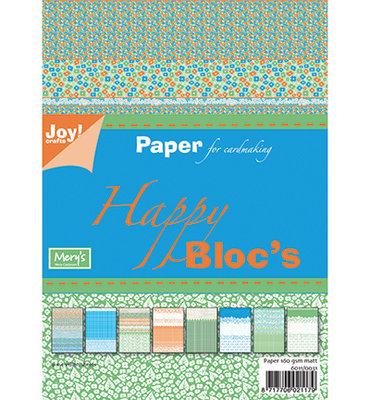 Joy! crafts - Paperpack - Happy bloc groen/blauw 6011/0031