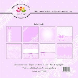 Dixi Paper Pack 15x15 cm background-baby purple (pp0038)