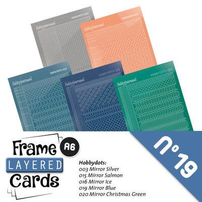 Hobbydots sticker - Stickerset Frame Layered Cards 19-