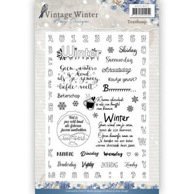 Clear Stamp - Amy Design - Vintage Winter NL adcs10022