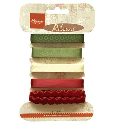 JU0951 - Christmas ribbons -Victorian Christmas Ribbon
