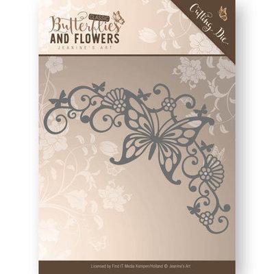 Die - Jeanine's Art - Classic Butterflies and Flowers - Butterfly Corner