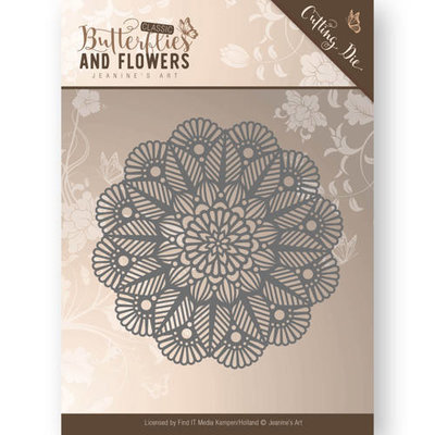 Die - Jeanine's Art - Butterflies and Flowers - Doily