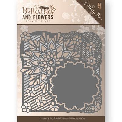 Die - Jeanine's Art - Classic Butterflies and Flowers - Flower Frame