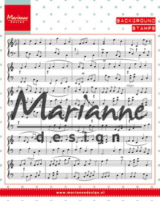 Marianne desgn - Clear stamp - music notes