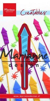 Marianne desgn - Creatables stencil -  fireworks rocket