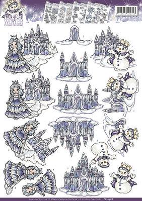 3D Knipvel - Yvonne Creations - Magical winter - Ice Castles  cd10588