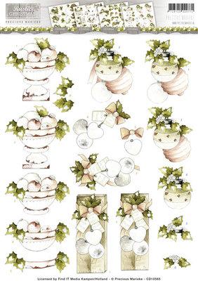3D Knipvel - Precious Marieke - Rustic Christmas - Baubles  cd10565