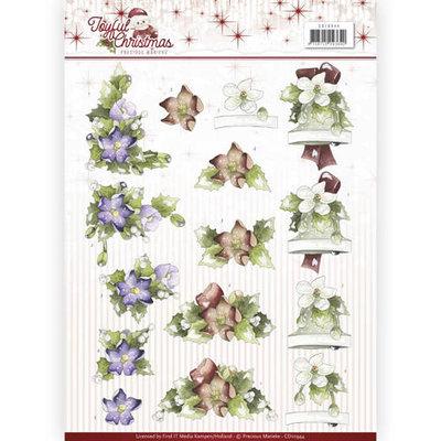 3D Knipvel - Precious Marieke - Joyful Christmas - Christmas rose  cd10944