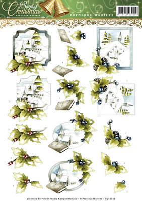 3D Knipvel - Precious Marieke - Spirit of Christmas - Landscape  cd10733