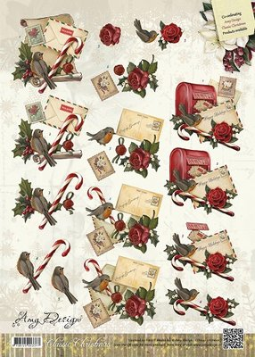 3D Knipvel - Amy Design - Classic Christmas - Christmas letters  cd10425