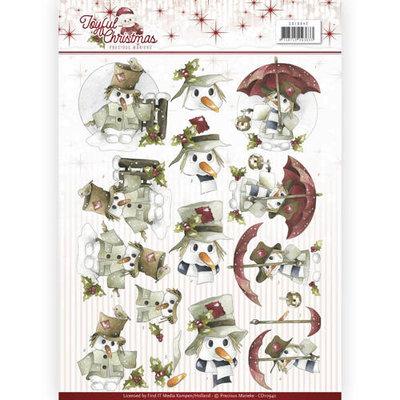 3D Knipvel - Precious Marieke - Joyful Christmas - Snowman  cd10942