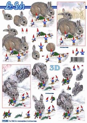 Le Suh konijn in sneeuw 777.491