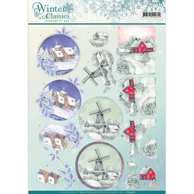3D Knipvel - Jeanine's Art - winter classics- Christmas Landscapes cd10967