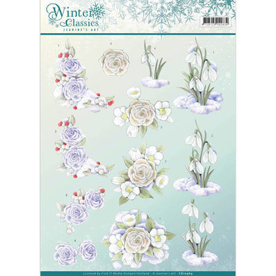 3D Knipvel - Jeanine's Art - winter classics- Snow flowers cd10969