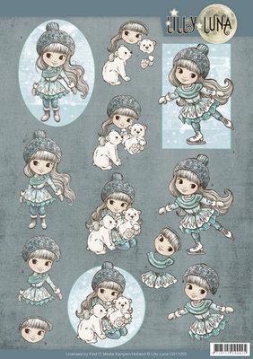 CD11005 3D Knipvel - Lilly Luna - Ice Princess
