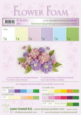 LCR25.4056 Flower foam assortment set 1 pastel