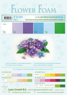 LCR25.4063 Flower foam assortment set 2 blue-violet