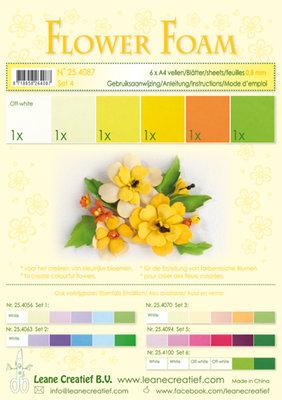 LCR25.4087 Flower foam assortment set 4 yellow