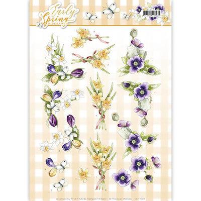 CD11026 3D Knipvel - Precious Marieke - Early Spring - Early Daffodils