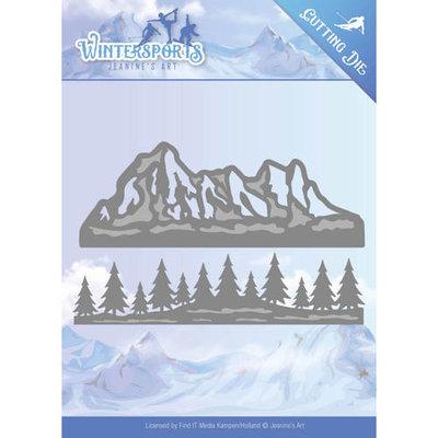 Die - Jeanine's Art - Wintersports - Mountain Border JAD10029