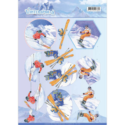 3D Knipvel - Jeanine's Art - Wintersports - Snowfun CD11031
