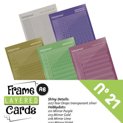 Frame Layered Cards 21 - Stickerset LCST021