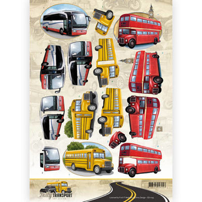 CD11035 3D Knipvel - Amy Design - Daily Transport - By Bus